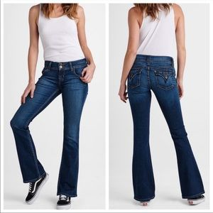 Hudson Midrise Flap Pocket Boot Cut Jeans